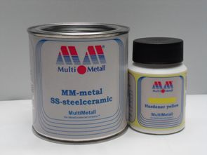 MM-metal SS-steelceramic with Hardener yellow