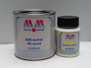 MM-metal SS-steel with Hardener yellow
