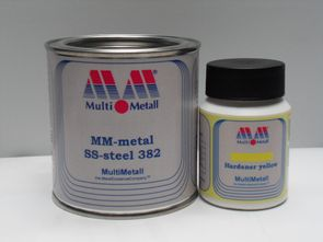 MM-metal SS-steel 382 with Hardener yellow