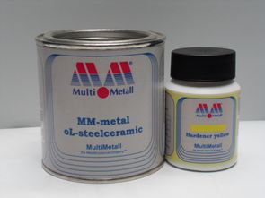 MM-metal oL-steelceramic with Hardener yellow